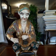 Antiguidades: FIGURA PORCELANA JAPONESA SATSUMA. Lote 131369985
