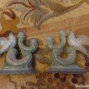 Antigüedades: CANDELABROS PAJAROS. Lote 131370722