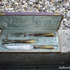 Antigüedades: BONITO TRINCHADOR DE CARNE EN PLATA SIGLO XIX NAPOLEON III. Lote 131395922