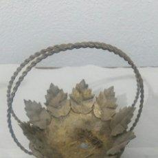 Antigüedades: FLORERO DE METAL. Lote 131413222