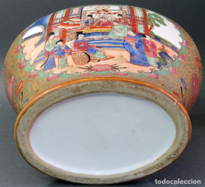 Antigüedades: Pareja de jarrones chino en porcelana de Cantón siglo XX - Foto 9 - 131414258
