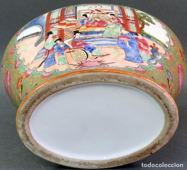 Antigüedades: Pareja de jarrones chino en porcelana de Cantón siglo XX - Foto 13 - 131414258