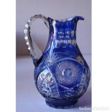 Antigüedades: JARRA DE CRISTAL DE BOHEMIA TALLADA. Lote 131423370