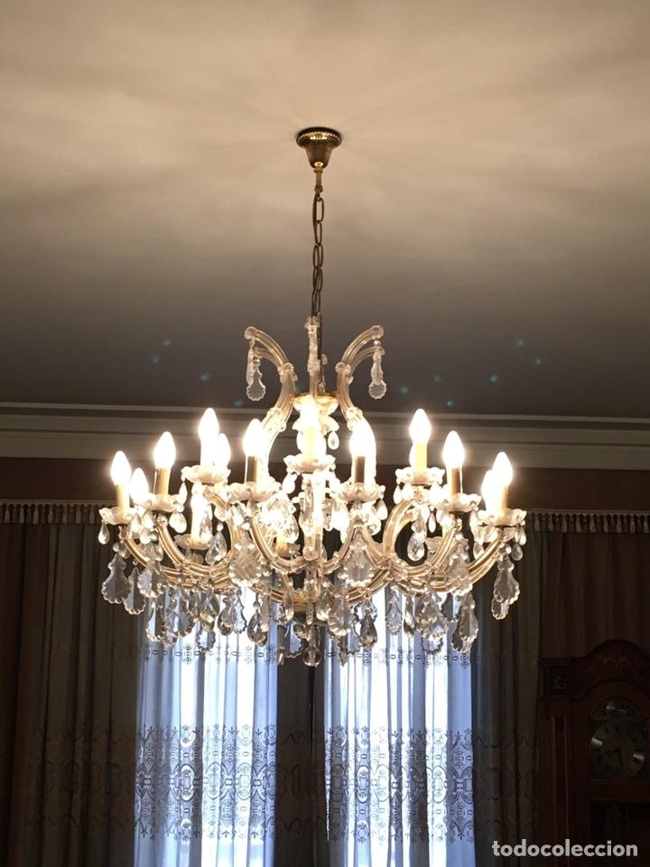 Antigüedades: Lámpara cristal de Bohemia - Foto 2 - 131430251