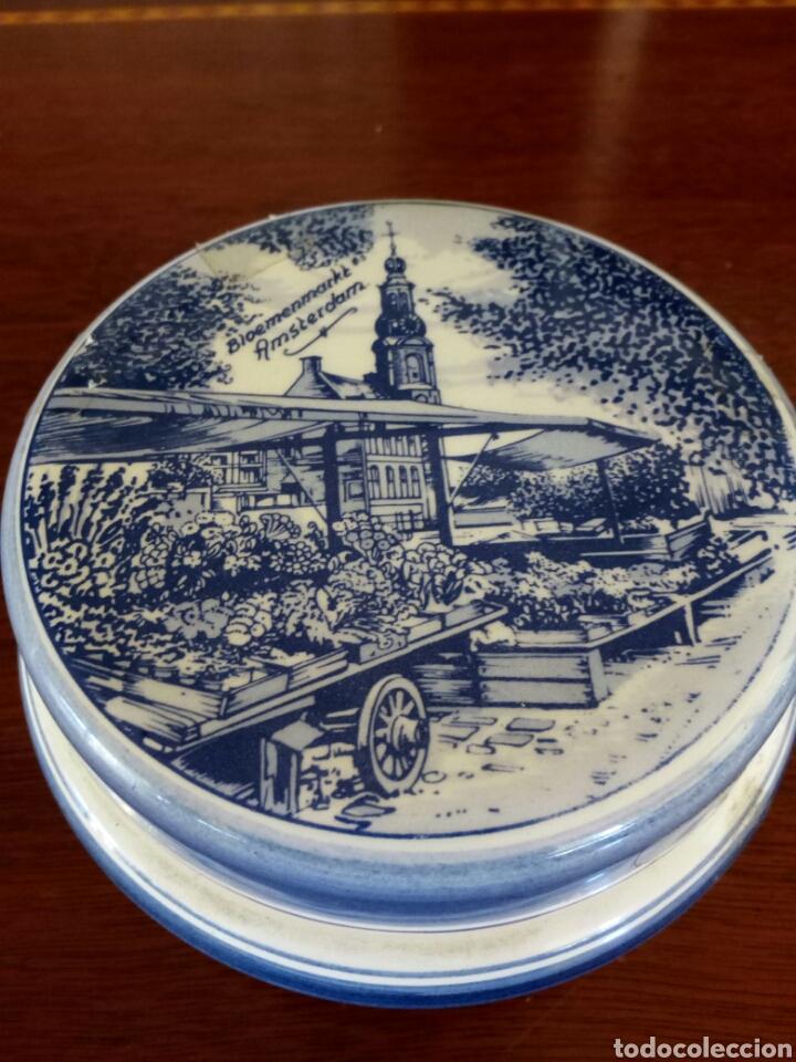 JOYERO PORCELANA HOLANDESA (Antigüedades - Porcelana y Cerámica - Holandesa - Delft)