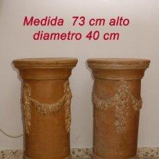 Antigüedades: PEDESTAL BARRO. Lote 131448446