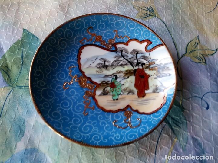 PRECIOSO PLATO DE PORCELANA CHINA SELLADO ,PINTADO A MANO, (Antigüedades - Porcelanas y Cerámicas - China)
