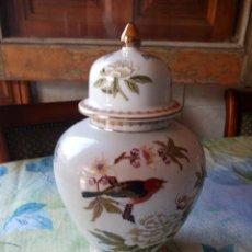 Antigüedades: PRECIOSO JARRÓN CON TAPA ( TIBOR) PORCELANA CHINESE GARDEN ORIGINAL DESIGN.. Lote 131450178