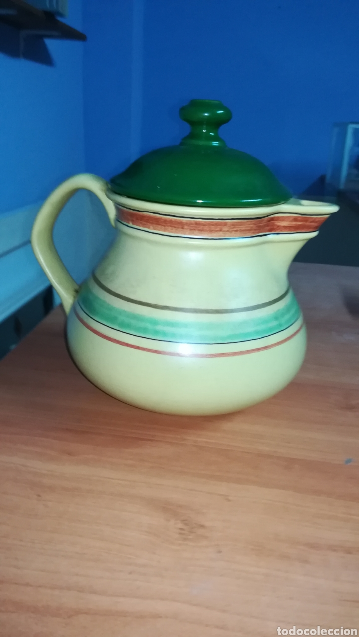 Antigüedades: Jarra de ceramica 19 cm alta - Foto 3 - 131455613
