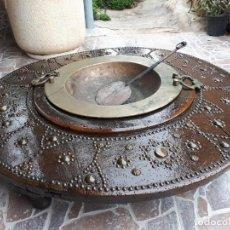 Antigüedades: ANTIGUO BRASERO DE LATON . Lote 131459294