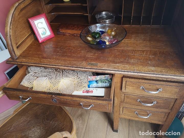 Antiquitäten: Escritorio bureau de madera - Foto 3 - 131475694