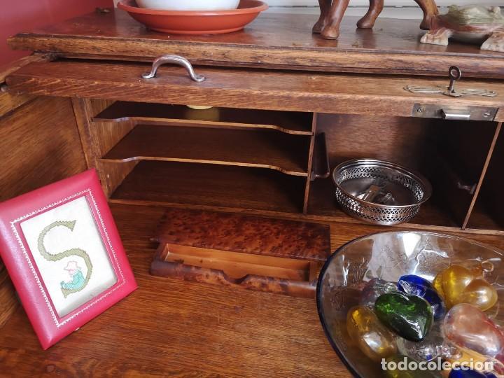 Antiquitäten: Escritorio bureau de madera - Foto 4 - 131475694