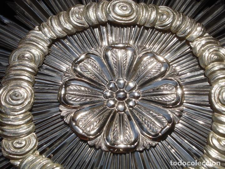 CORONA DE PLATA IMPRESIONANTE CORONA DE PLATA ESCUELA ESPAÑOLA SXIX GRANDES MEDIDAS 31'5CM (Antigüedades - Religiosas - Orfebrería Antigua)