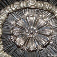 Antigüedades: CORONA DE PLATA IMPRESIONANTE CORONA DE PLATA ESCUELA ESPAÑOLA SXIX GRANDES MEDIDAS 31'5CM. Lote 131477474