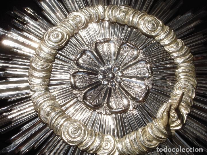 Antigüedades: CORONA DE PLATA IMPRESIONANTE CORONA DE PLATA ESCUELA ESPAÑOLA SXIX GRANDES MEDIDAS 315CM - Foto 10 - 131477474