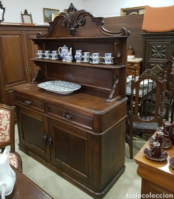 Conjunto Salon Madera Maciza Comprar Aparadores Antiguos En - Salon-madera