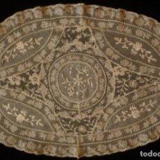 Antigüedades: ANTIGUO TAPETE DE ENCAJE NORMANDÍA S.XIX. Lote 131484838