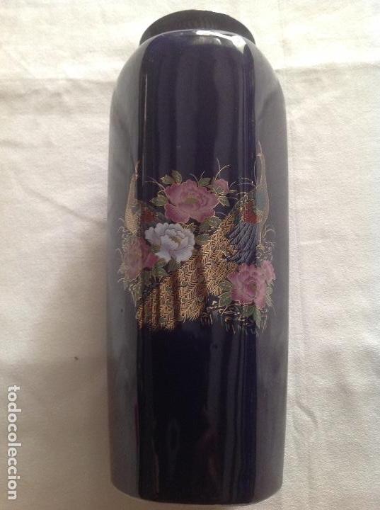 Antigüedades: JARRÓN JAPONES ANTIGUO DE PORCELANA - Foto 2 - 131497958