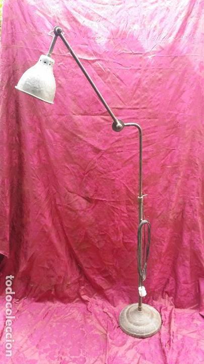 Antigüedades: Lámpara extensible industrial. - Foto 2 - 131499798