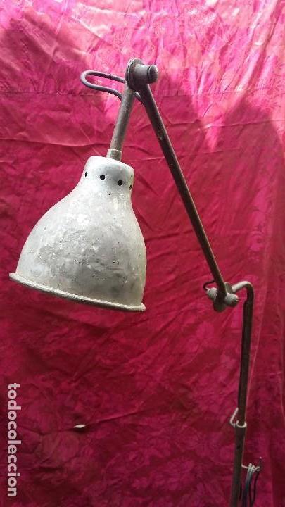 Antigüedades: Lámpara extensible industrial. - Foto 3 - 131499798