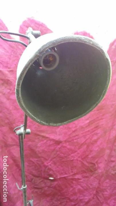 Antigüedades: Lámpara extensible industrial. - Foto 4 - 131499798