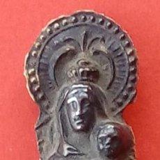 Antigüedades: VIRGEN DEL PILAR DE PLATA S. XIX, MAGNÍFICO TRABAJO DE ORFEBRERÍA. 4.7 CMS DE ALTO.. Lote 131504038