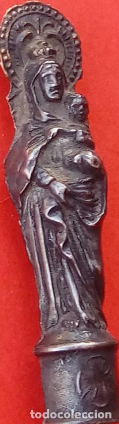 Antigüedades: VIRGEN DEL PILAR DE PLATA S. XIX, MAGNÍFICO TRABAJO DE ORFEBRERÍA. 4.7 CMS DE ALTO. - Foto 4 - 131504038