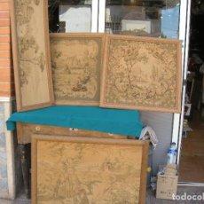 Antigüedades: TAPIZ, LOTE DE 4 TAPICES. Lote 131518898