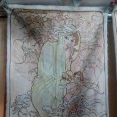 Antigüedades: ALFOMBRA TIPO TAPIZ MODERNISTA ART NUOVEAU. Lote 131528378