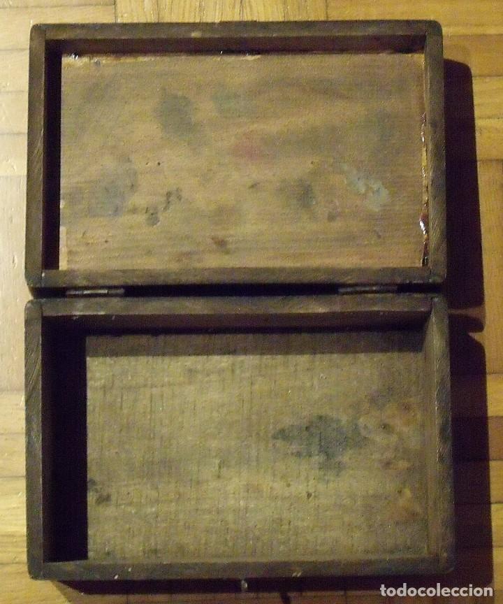 Antigüedades: CAJA DE MADERA DE ZAPATOS CON HERRAJES ORIGINALES. 15X29X10 CM. MI ZAPATO. FINALES SIGLO XiX. - Foto 2 - 131533782