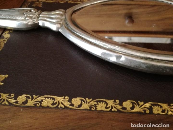 Antigüedades: COMPLETISIMO JUEGO DE TOCADOR EN CRISTAL TALLADO Y PLATA 800 ITALIANA. EN CAJA ORIGINAL. - Foto 10 - 38060605