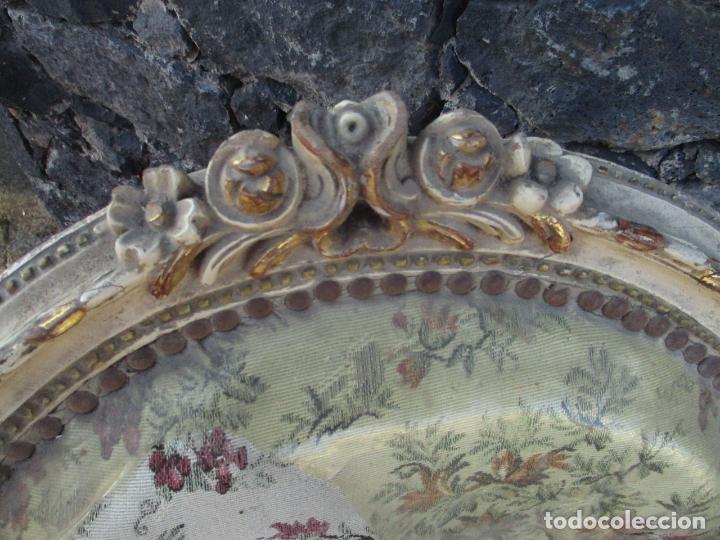 Antigüedades: Pareja de Sillones - Sillón - Madera Tallada y Lacada - Estilo Luis XV, Francia - Tapicería Original - Foto 5 - 131557346