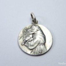 Antigüedades: MEDALLA EN PLATA 800 DE SAN ANTONIO DE PADUA. Lote 131562234