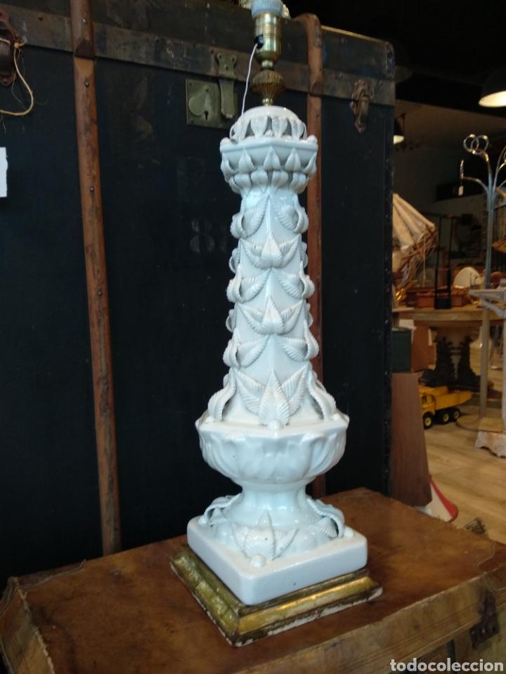 GRAN LAMPARA BONDIA MANISES 80CM (Antigüedades - Porcelanas y Cerámicas - Manises)