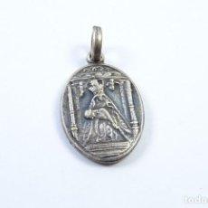 Antigüedades: MEDALLA RELICARIO ANTIGUA EN PLATA 925 DE NUESTRA SEÑORA DEL CAMINO. Lote 131573478