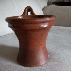Antigüedades: *ANTIGUO CUCHARERO .LA BISBAL (CATALUNYA). 15 CM. ,(RF:BC/B). Lote 131582830
