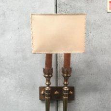Antigüedades: LAMPARA ANTIGUA ESPECTACULAR , ENORME APLIQUE DE 2 BRAZOS VINTAGE. Lote 131616514