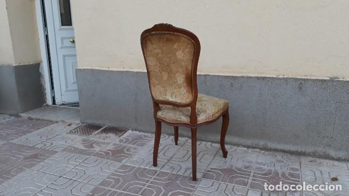 Antigüedades: Pareja de sillas antiguas capitoné estilo Luis XV. Dos sillas antiguas isabelina retro vintage - Foto 8 - 131664286