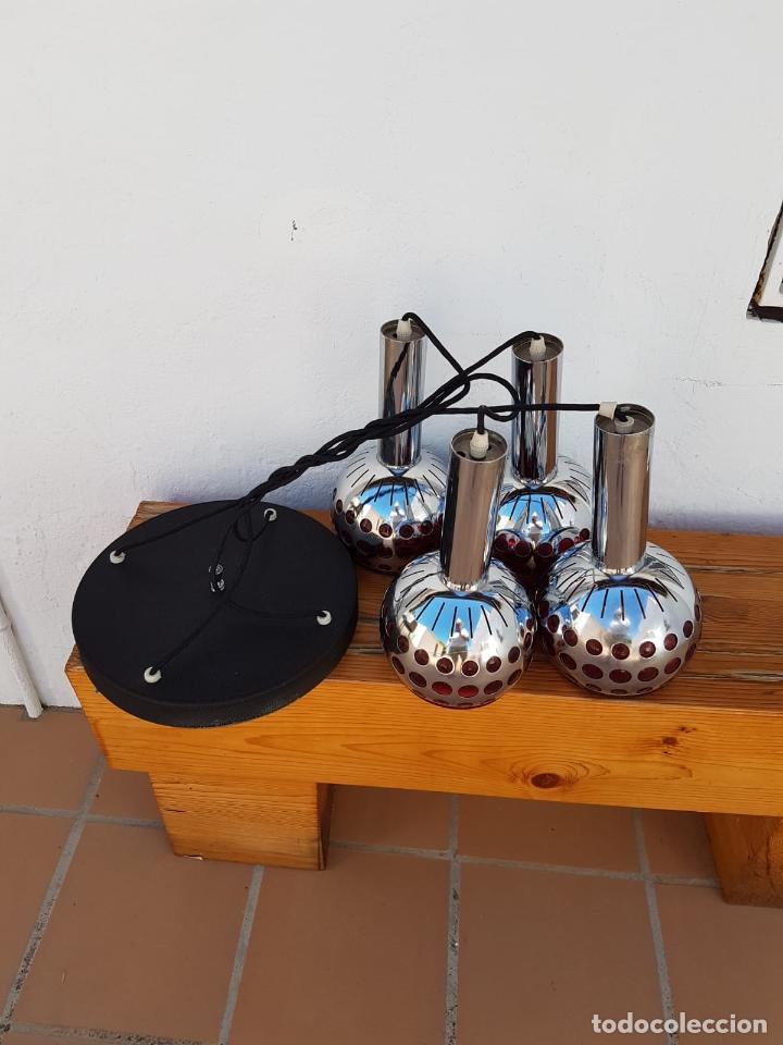 Antigüedades: LAMPARA ANTIGUA SICODELICA VINTAGE,AÑOS 60-70 APROX - Foto 9 - 131671850