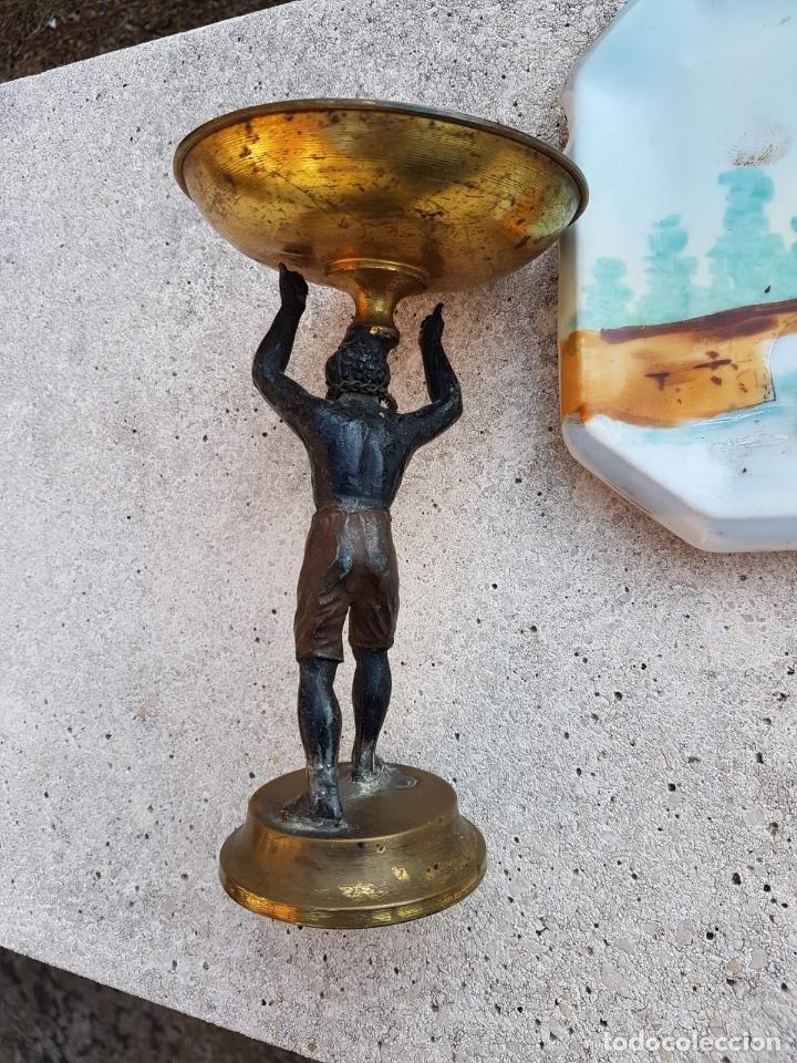 Antigüedades: FIGURA ANTIGUA TARGETERO ESCLAVO HOMBRE NEGRO RARISIMA SIGLO XIX APROX - Foto 3 - 131674190
