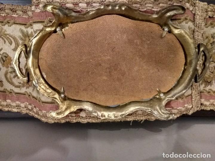 Antigüedades: CENTRO DE MESA BANDEJA JARDINERA DE BRONCE Y ESPEJO DOS PIEZAS ESTILO ISABELINO - Foto 12 - 131709626