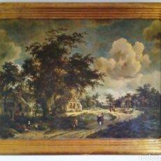 Antigüedades: EXCEPCIONAL GRAN MARCO DE MADERA CON PAN DE ORO.. Lote 131716886