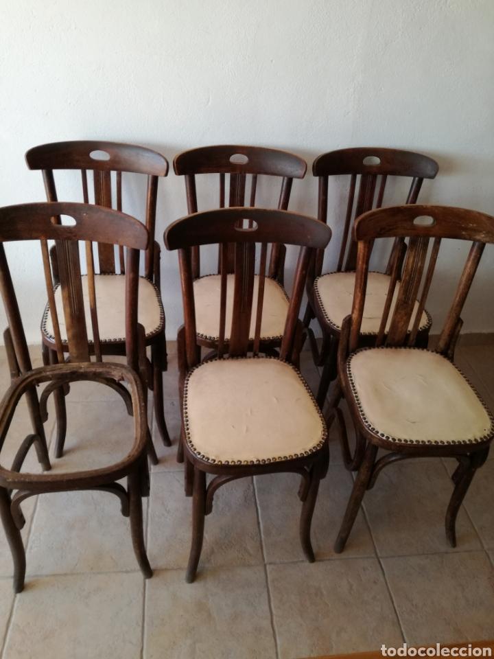 JUEGO DE 6 SILLAS ESTILO TONET (Antigüedades - Muebles Antiguos - Sillas Antiguas)