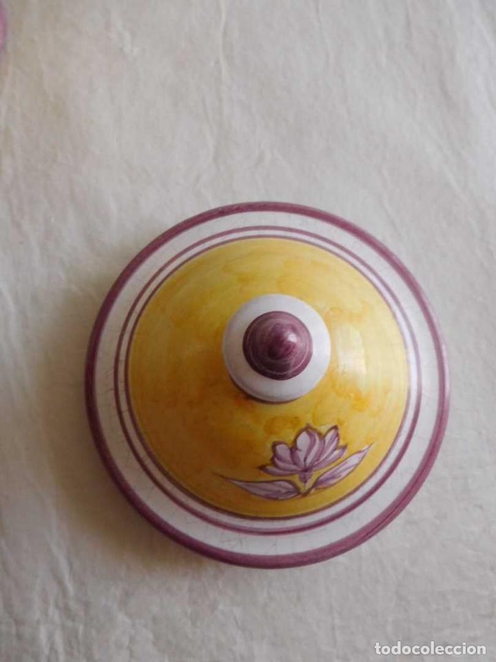 Antigüedades: M69 Antiguo frasco albarelo de farmacia en porcelana con tapadera de Camptotheca Acuminata. Firmado. - Foto 2 - 131732410