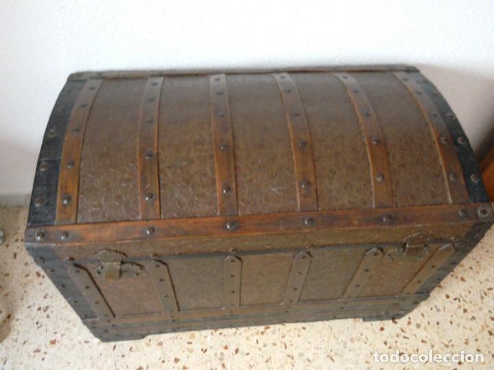 Antigüedades: Baúl madera i metal - Foto 2 - 131737194
