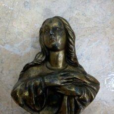 Antigüedades: ESCULTURA DE BRONCE VIRGEN MARÍA ANTIGUA PRINCIPIOS SIGLO XX, MODERNISTA, ART NOUVEAU. Lote 131740786