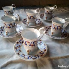 Antigüedades: JUEGO DE CAFÉ PORCELANA GOLDSCHMUCK ORIGINAL FINE PORCELAIN . Lote 131752058