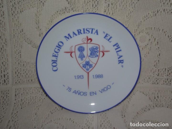 Antigüedades: PLATO PORCELANA SANTA CLARA. COLEGIO MARISTA EL PILAR. 1913 - 1988. 75 AÑOS EN VIGO - Foto 3 - 131752554