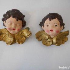 Antigüedades: PAREJA DE ÁNGELES. Lote 131782322