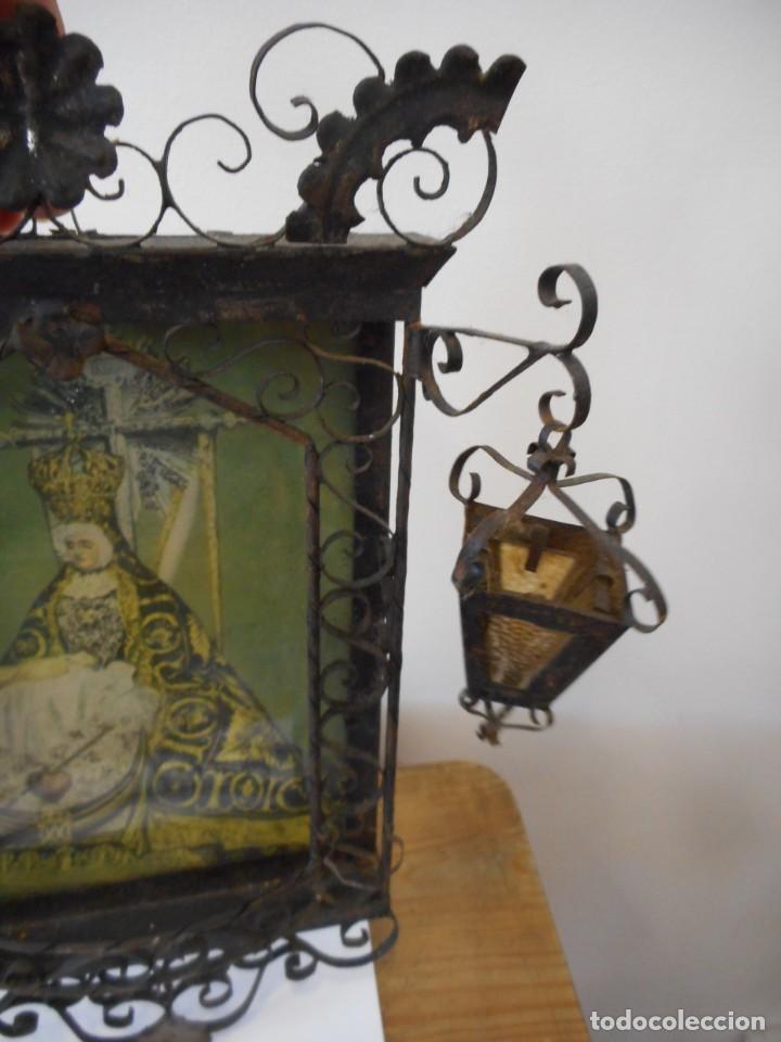 Antigüedades: Ventana o verja con faroles con la Virgen de las Angustias - Foto 3 - 131783594